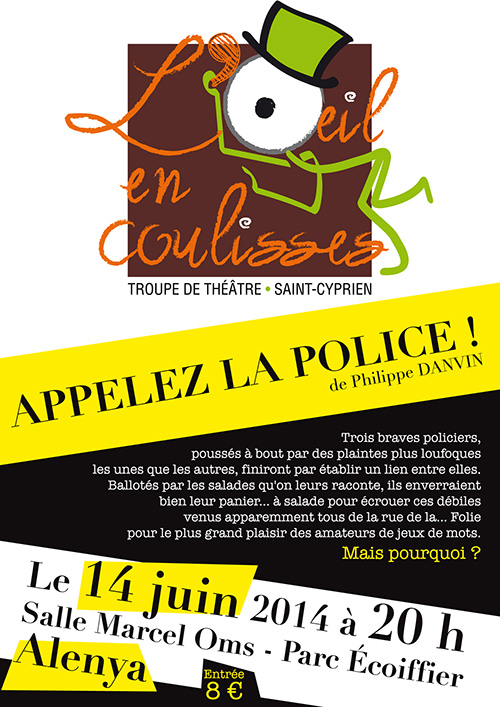 AFFICHE POLICE ŒIL COULISSES