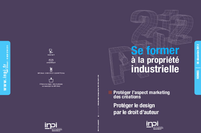 Formation INPI sur la protection du DESIGN 06/12